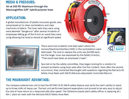 CASE STUDY REVEALS REEL DANGERS IN MANUFACTURING PLANT